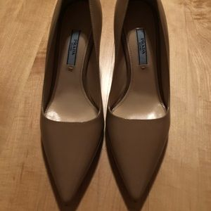 Brand new Authentic Prada Saffiano Heels 36